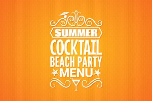Summer cocktail party menu
