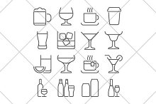 drink line icons