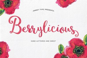 Berrylicious Hand-lettered Script
