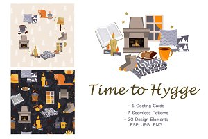 Time To Hygge. Vector Collection