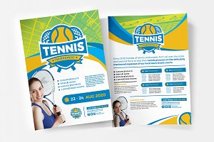 Tennis Flyer / Poster Templates