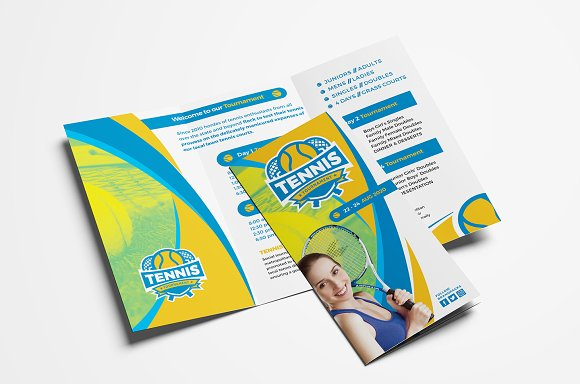 Tennis Trifold Brochure