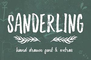 Sanderling Textured Font