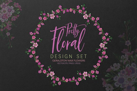 Pretty Floral Design Set