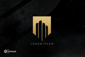 Gold Building - Real Estate Logo