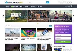VideoCloud Pro - WP Video Theme