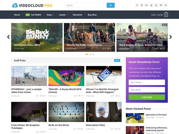 VideoCloud Pro WP Video Theme