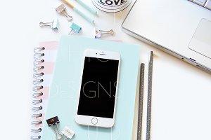 Feminine Stock Image with iPhone