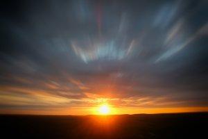 Closeup Sun Rays in Desert