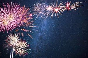 Holidays fireworks