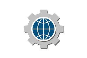 Global setting flat icon