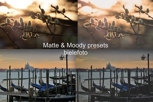 "Lightroom Presets ""Matte & moody"" #1"