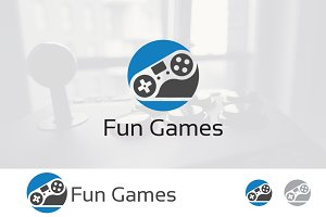 Circle Joystick Games Gamer Logo