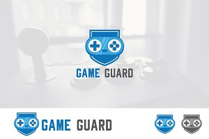 Game Strong Guard Shield Logo