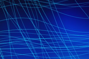 Blue connection lines background in technology concept, 3d illustration