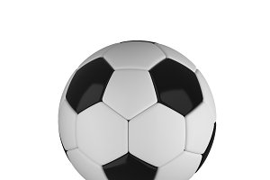 Soccer ball isolated on white background. 3d illustration