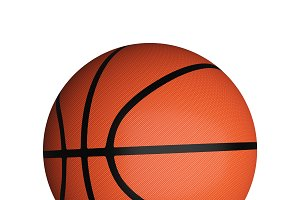 Basketball isolated on white background, 3d illustration