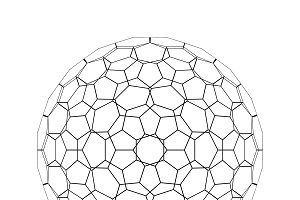 Sphere shape with network connection lines in technology concept on white, 3d abstract illustration