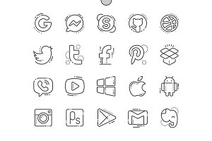 Logos Line Icons