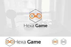 Hexagon Joystick Games Gamer Logo