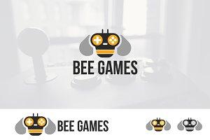 Honey Bee Games  Mascot Logo
