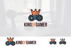 King of Gamer with Crown Logo