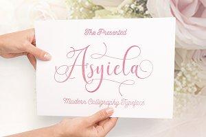 Asyiela Script Font Collection