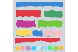 Scrap paper color set
