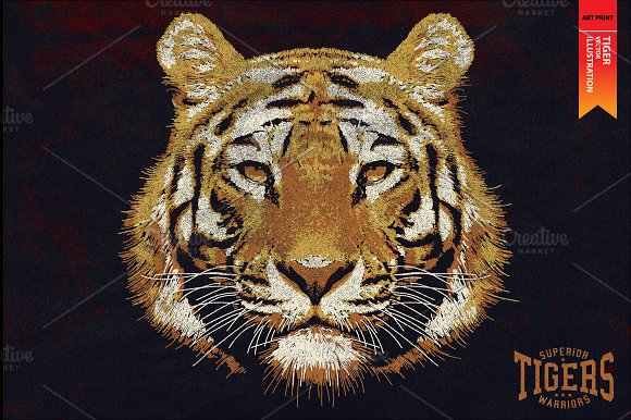TIGERS Vector Illustration