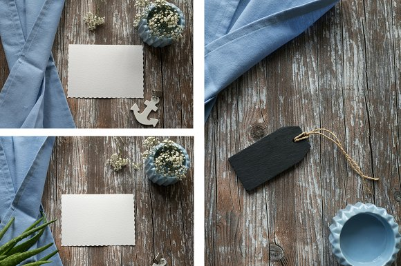 Blue Linen Mockup Bundle