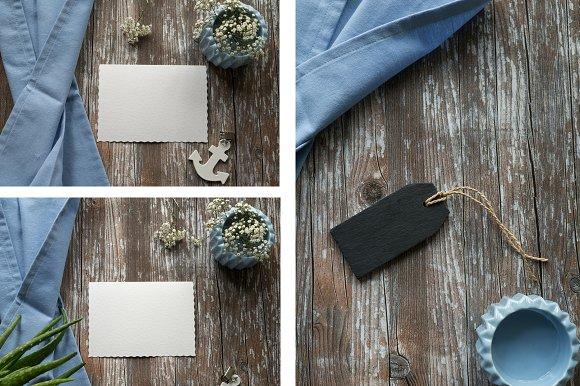 Blue Linen Mockup Bundle