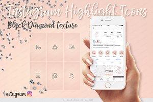IG Icons - Black Diamond texture