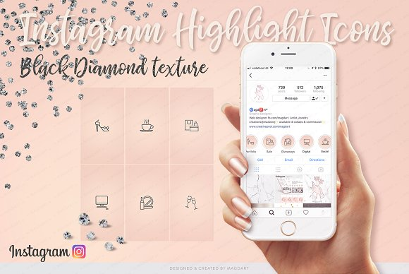 IG Icons Black Diamond Texture
