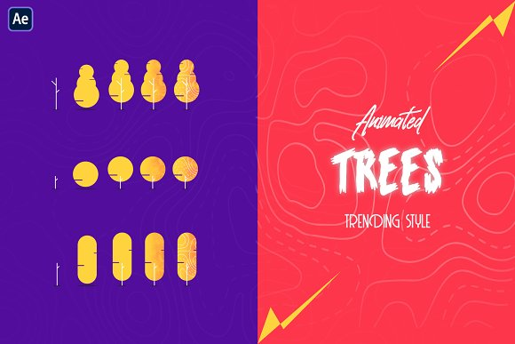 Animated Trees Trending Style AE-