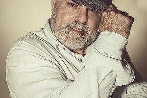 Attractive Senior with white beard