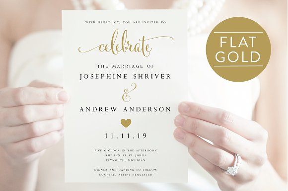 Wedding Invitation Editable PDF