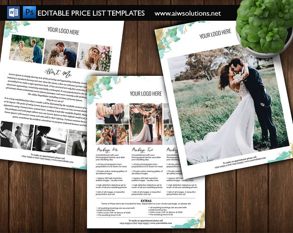 Photography Pricing Template ID07