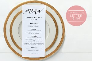 Editable PDF - Wedding Menu
