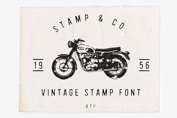 Stamp Co Vintage Stamp Font