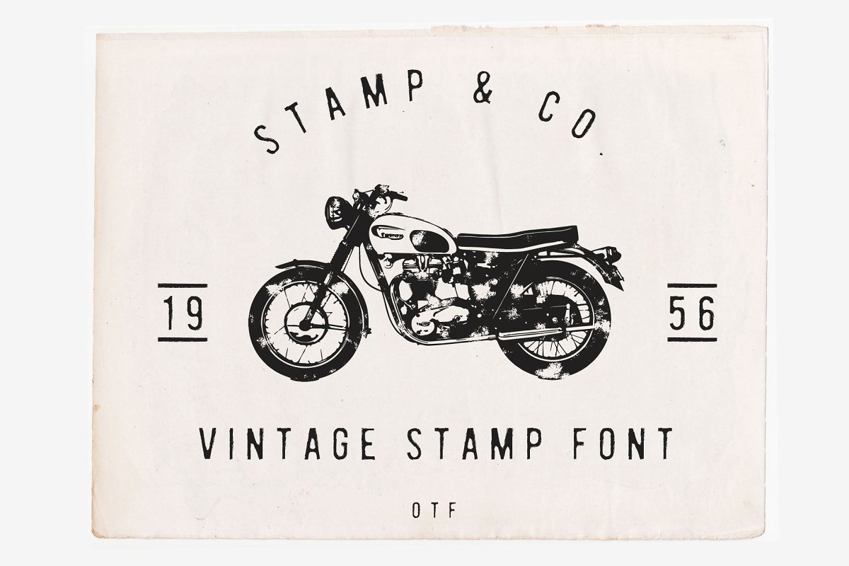 Stamp & Co - Vintage Stamp Font