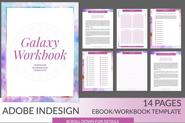 Galaxy Workbook INDD Template