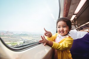Kids Traveling by Train