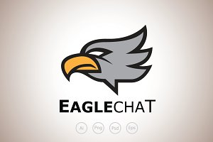 Eagle Chat Logo Template