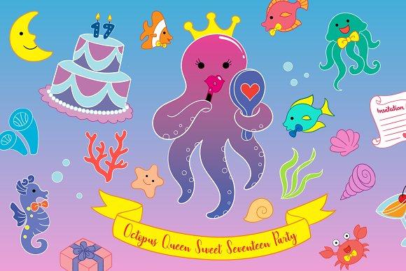 Octopus Queen Sweet Seventeen Party