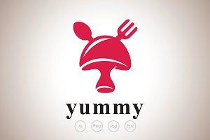 Mushroom Restaurant Logo Template
