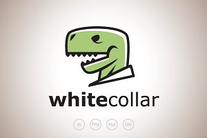 White Collar Rex Logo Template
