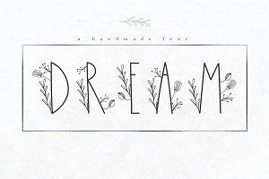 Dream - Handmade Floral Font