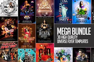 30 high quality flyer templates