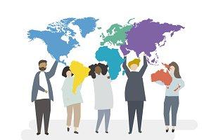 Illustration of global concept