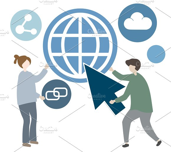 Illustration Of Global Communication